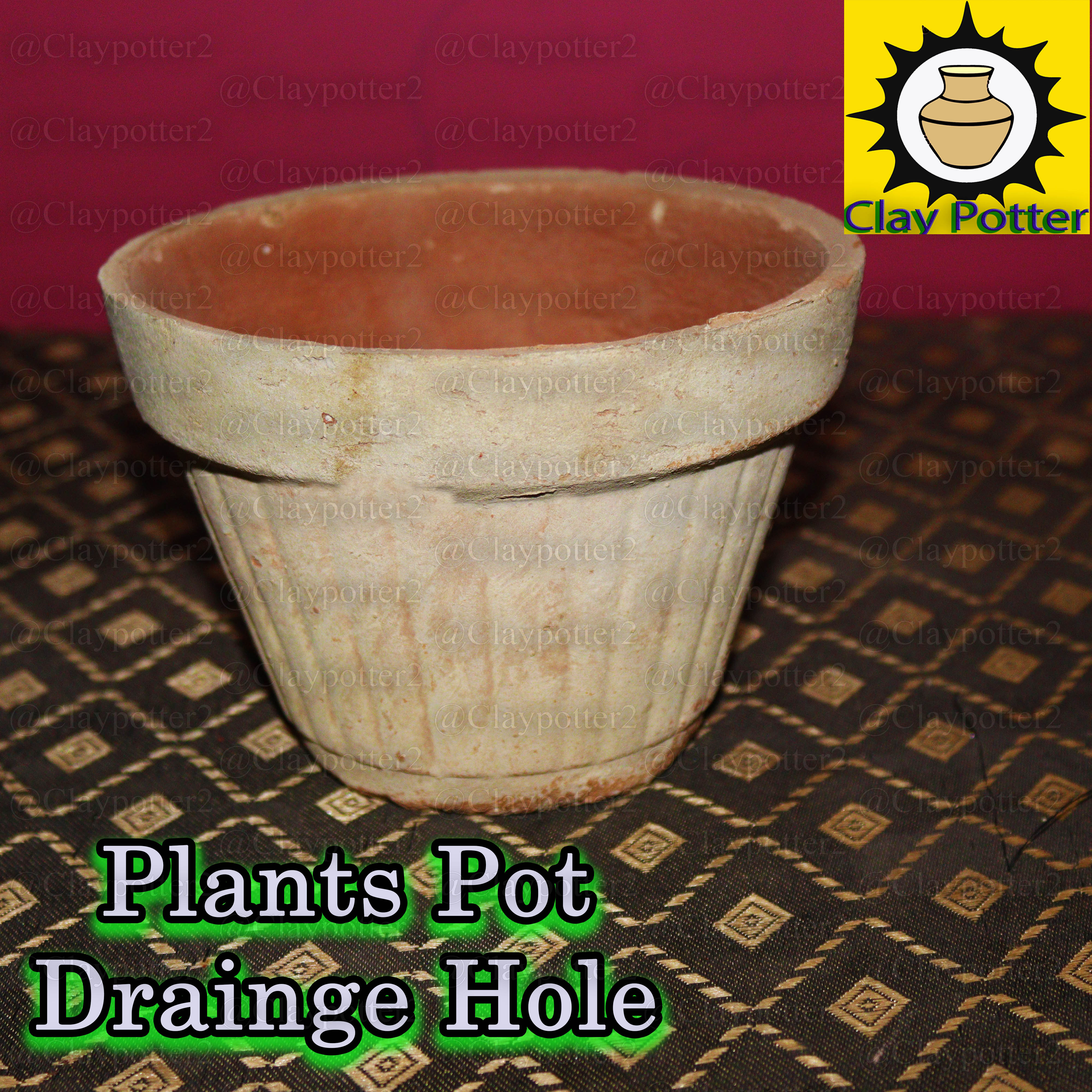 Clay Plants Pot (5 Piece) Good for Plants and Natural Pure clay |