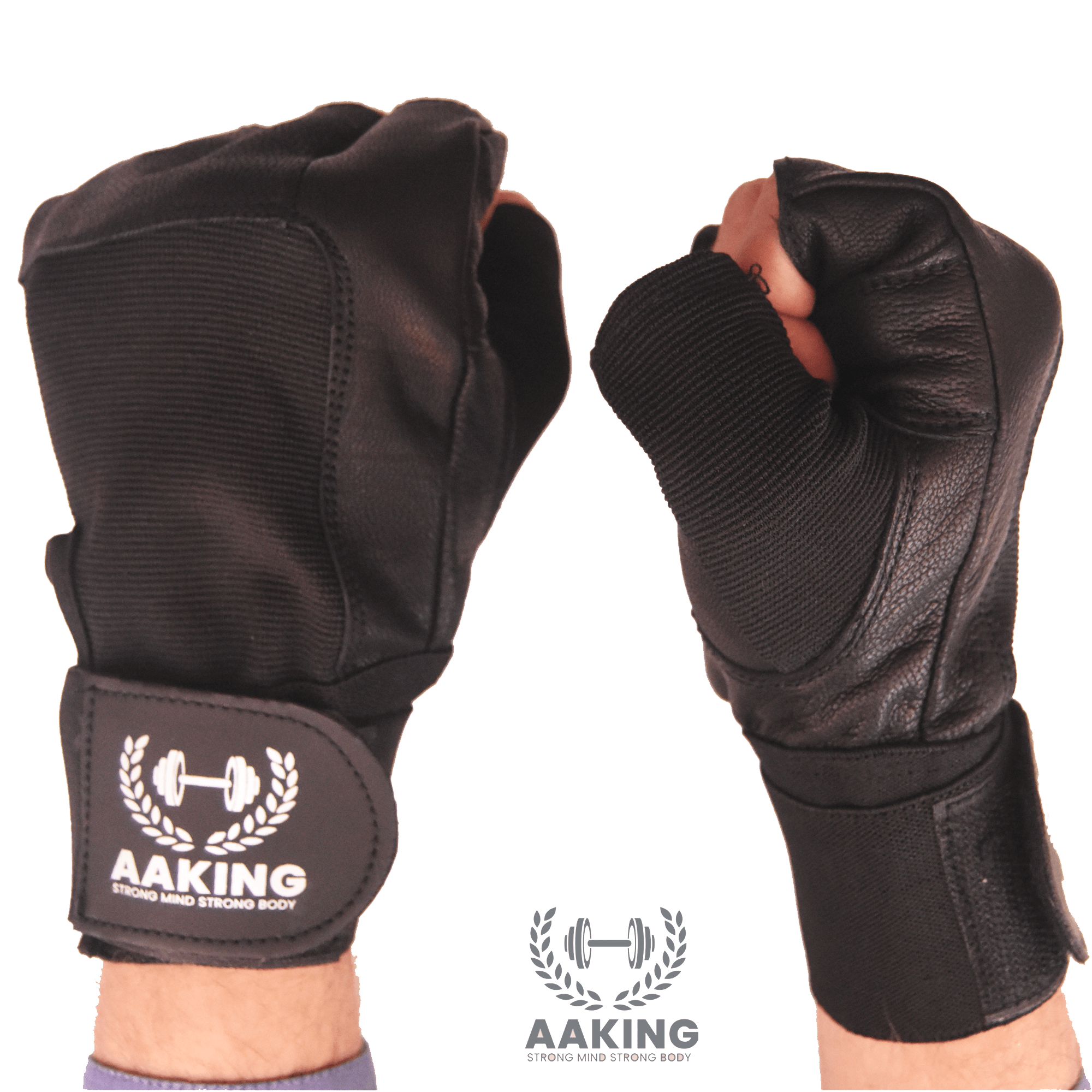 AAking Weightlifting Gym Gloves Fitness for Men Wrist Wrap Workout