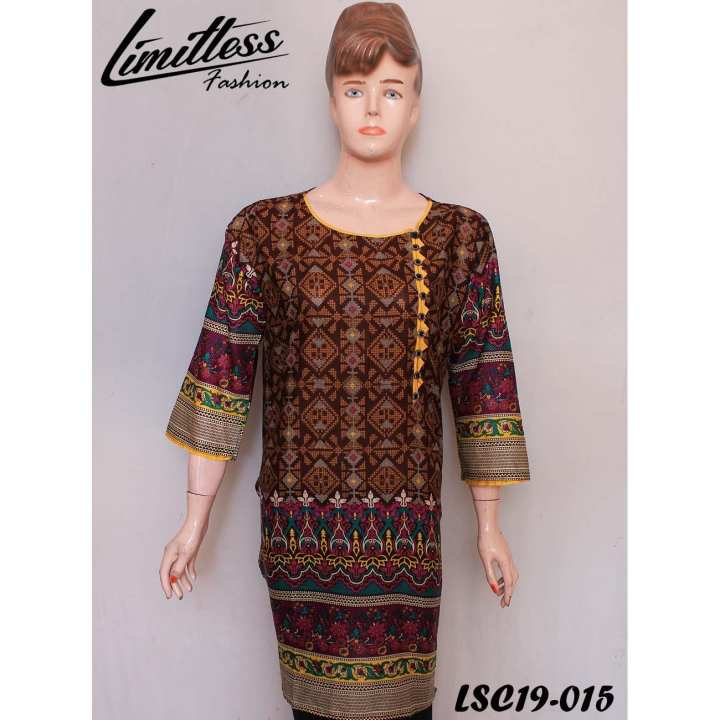 New and Latest Multicolor Printed Lawn Kurti for Women