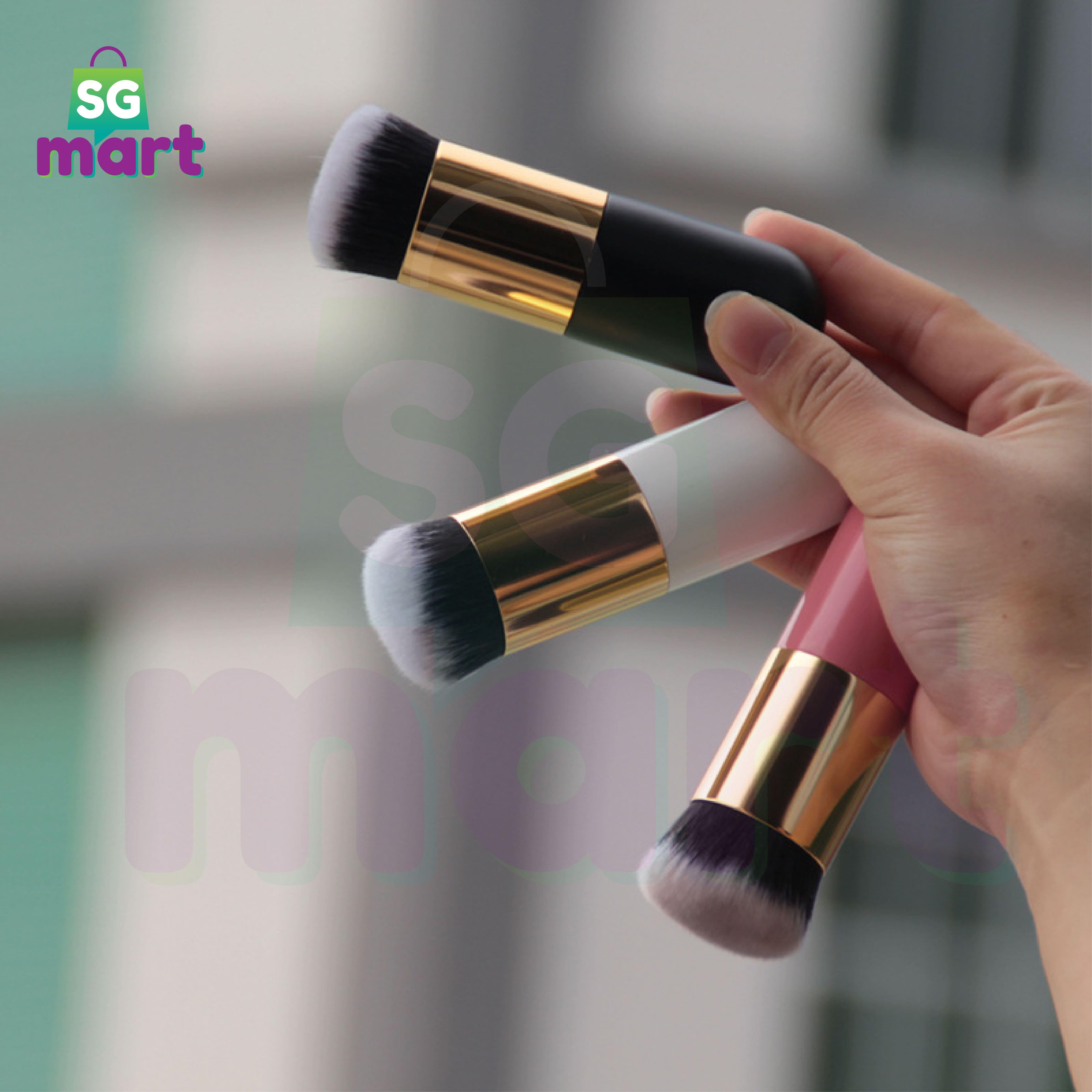Chubby Pier Foundation Brush – Flat Cream Makeup Brushes – Kabuki Foundation Base Brush – Professional Cosmetic Makeup Brush – Single