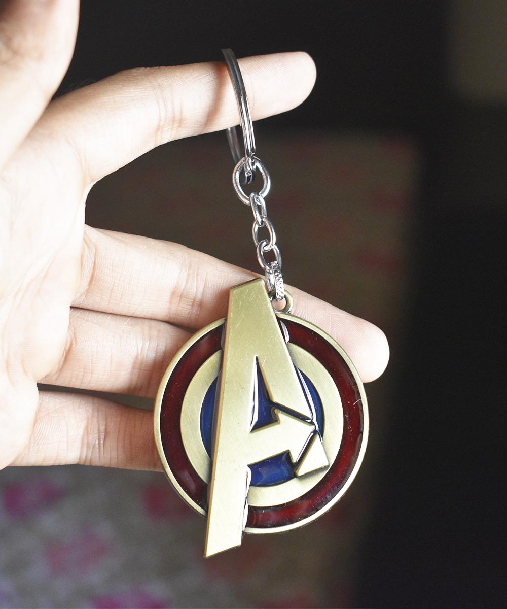 Avengers Logo Metal Keychain - Original Marvel Merchandise