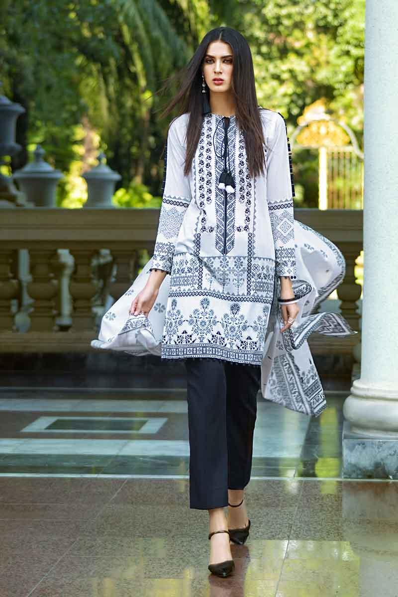 ad4fc4cac1 GA - GA - Gul Ahmed-Summer Collection 2019 BLACK&WHT Lawn-3 PC Unstitched