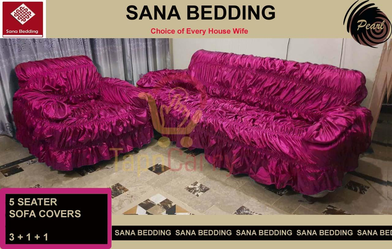 Admirable Sana Bedding Pearl Quality 5 Seater Sofa Cover Pink Andrewgaddart Wooden Chair Designs For Living Room Andrewgaddartcom