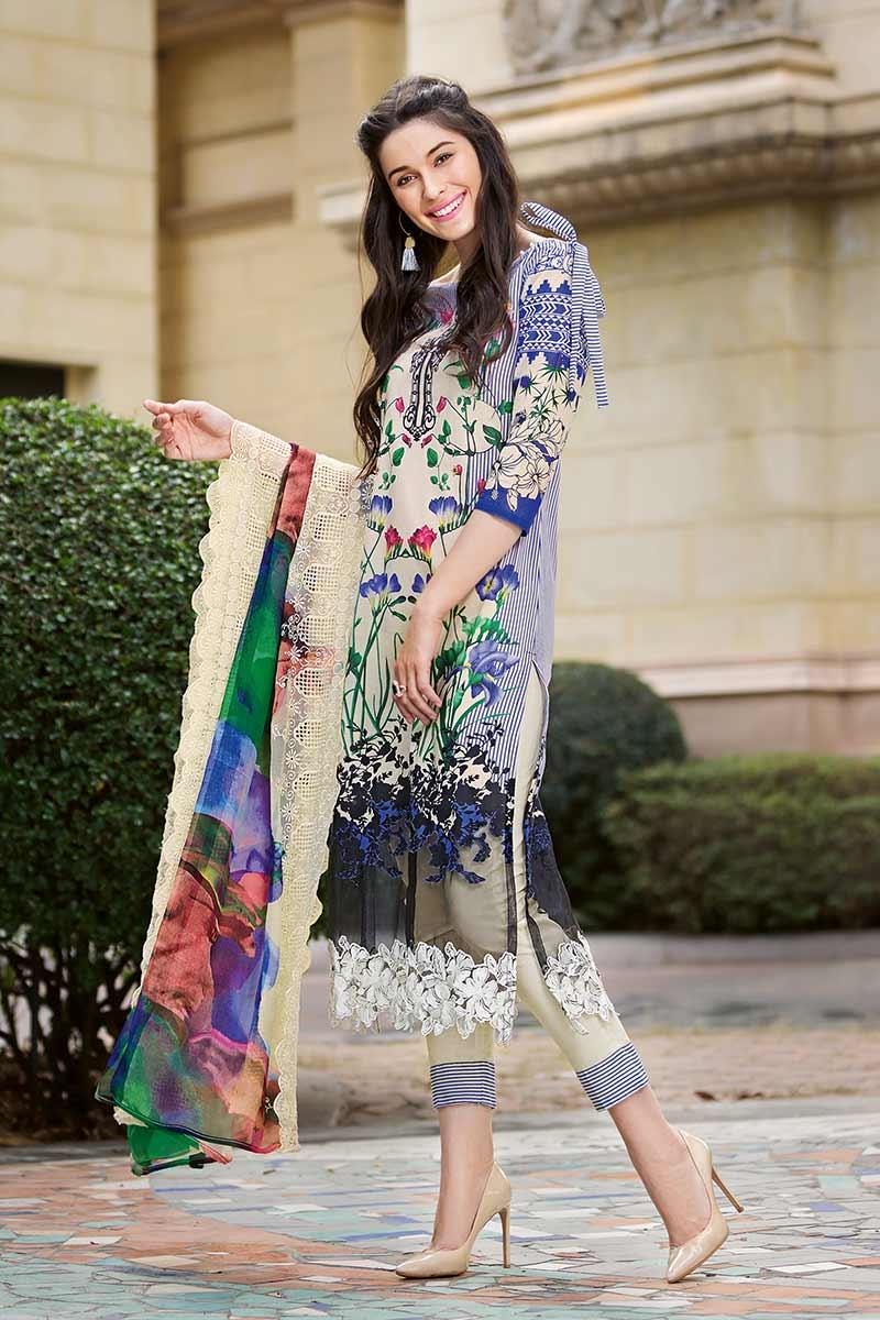 15c214e656 Product details of GA - GA - Gul Ahmed-Summer Collection 2019 Cream  Chantilly De Lace-3 PC Unstitched-CT-230 -195952