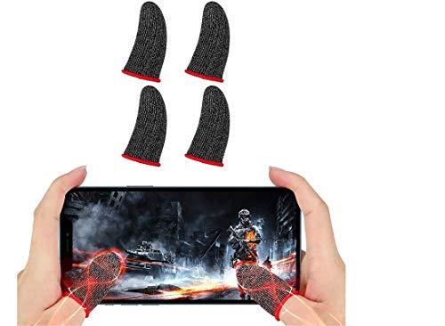 2 pair 4  Gloves  Pubg Thumb Gloves Finger Sleeve/ PUBG Thumb Gloves for Gaming/, AntiSweatable, Non-Slip L1 R1( 2 Pairs = 4 Pcs )