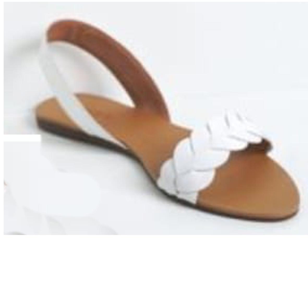 Hamza Footwear - Ladies flat sandal - White