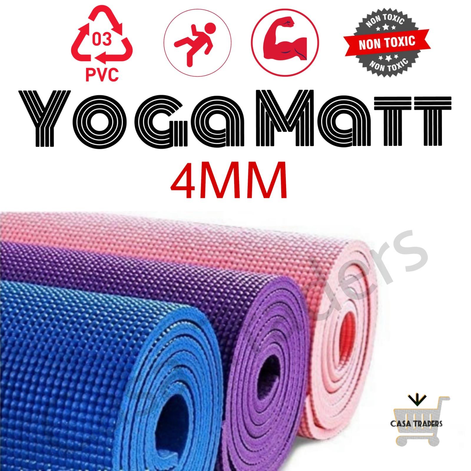 Yoga Mat, 4mm Anti-slip Thick Gym Mat, Exercise Mat, Fitness Mat, Eco Friendly Mat, Fitness Workout Mat,  Anti-Tear Durable Exercise Mat – HOMEFY