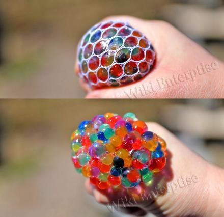 Grape Squishy Mesh Ball (Stress Squish Ball) (Stress Ball) (IGrape Mesh Ball) (For Adults and Kids) (Non-Toxic)