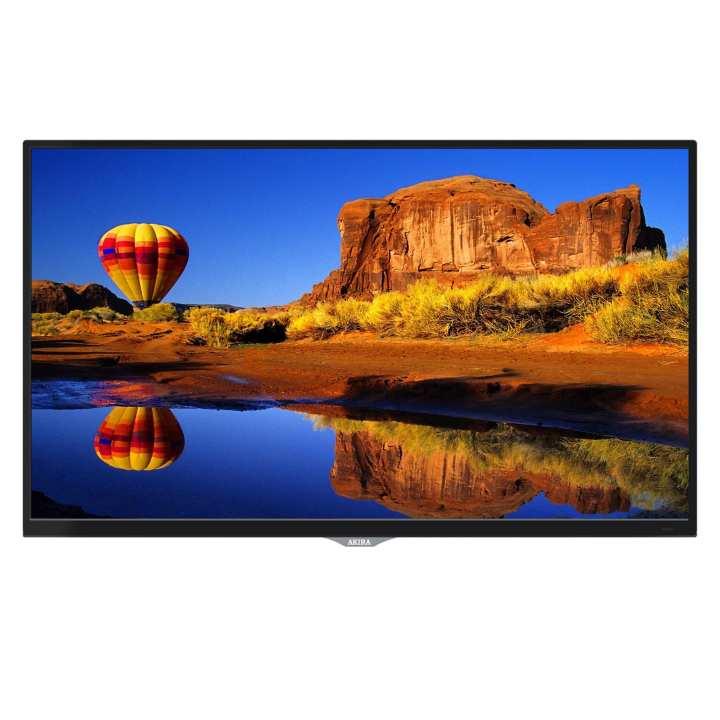 "AKIRA 32MG3013 32"" HD LED TV with Built-in Soundbar & DC Battery Compatibility - Glossy Black"