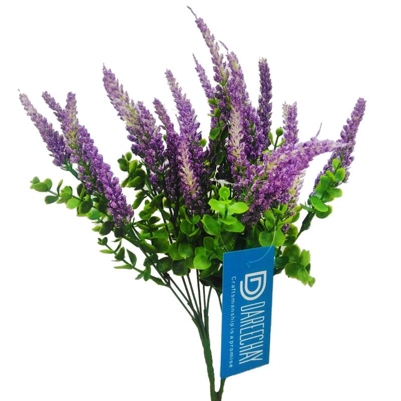 Set of 2 Purple White Flowers Bunch-OGD256