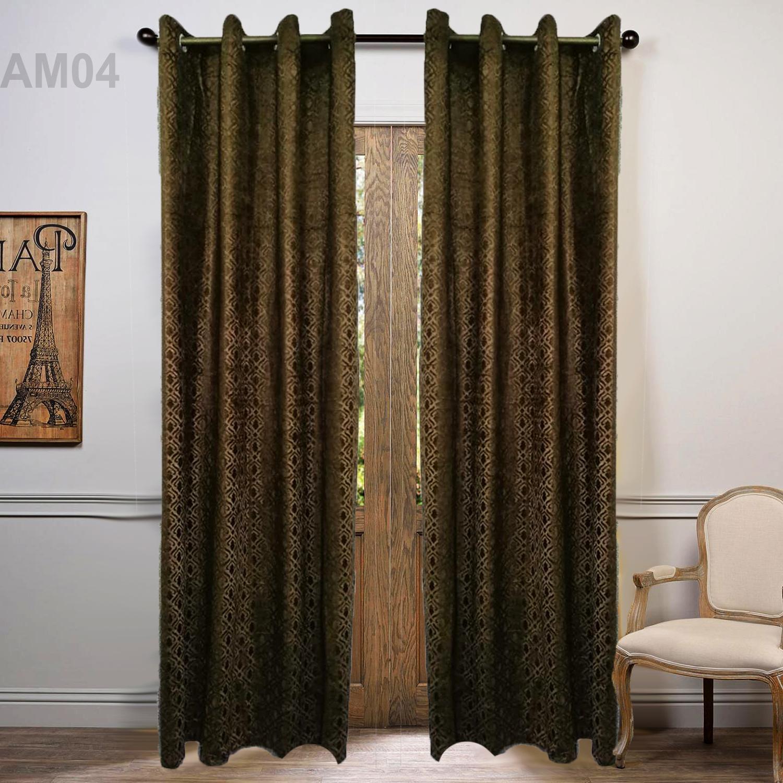 Ambosed Velvet Curtains