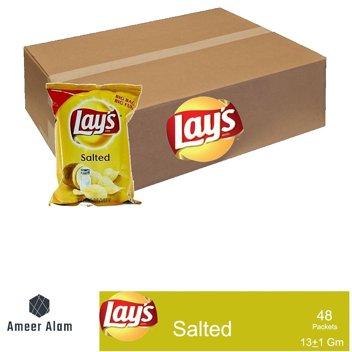 Lays Salted 13gms -64 Packets