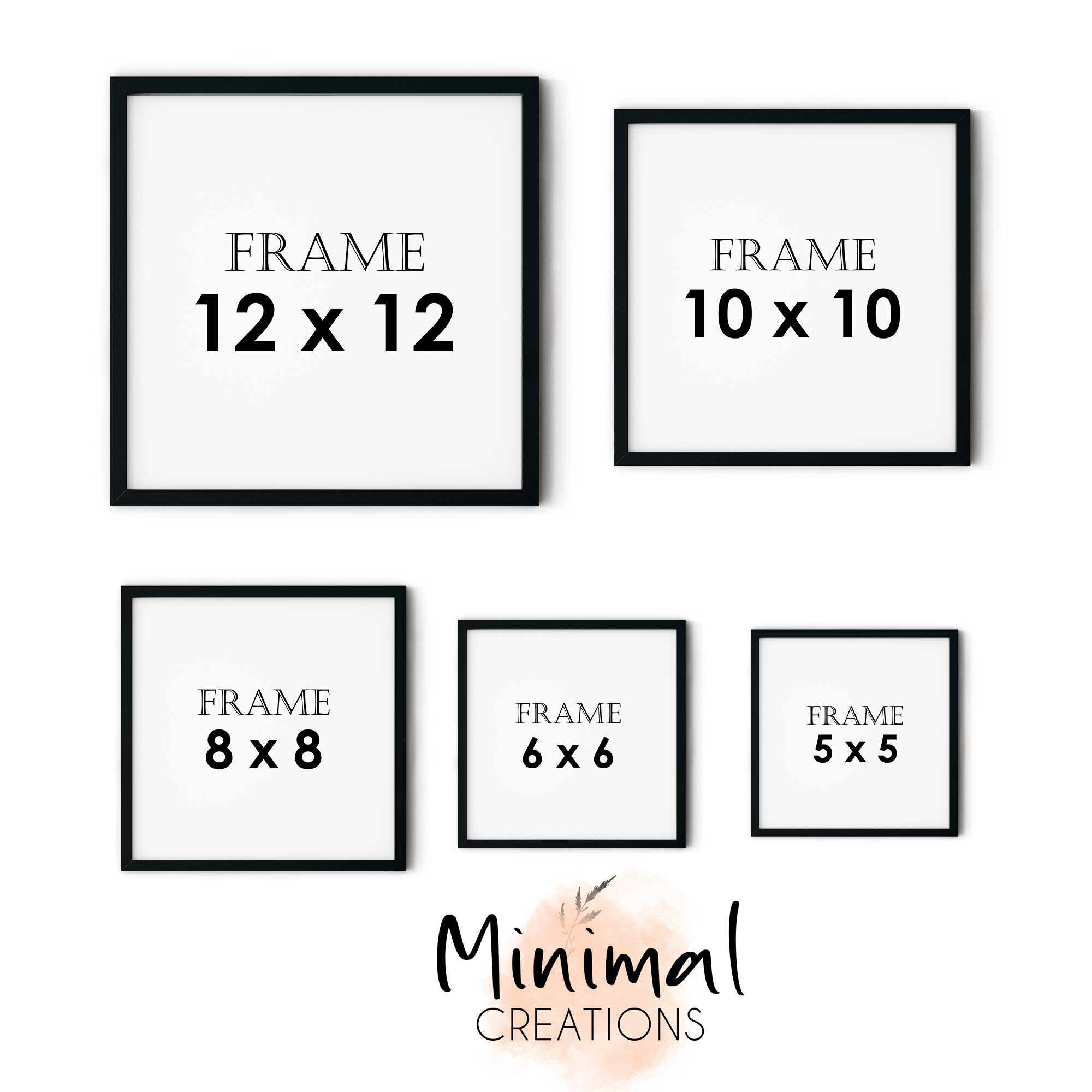 Single Minimalist Square Modern Customized Photo Frames Wall Decoration Photo Frame Wall Art Hanging Home Decoration Picture Gallery for Living Room Study Room