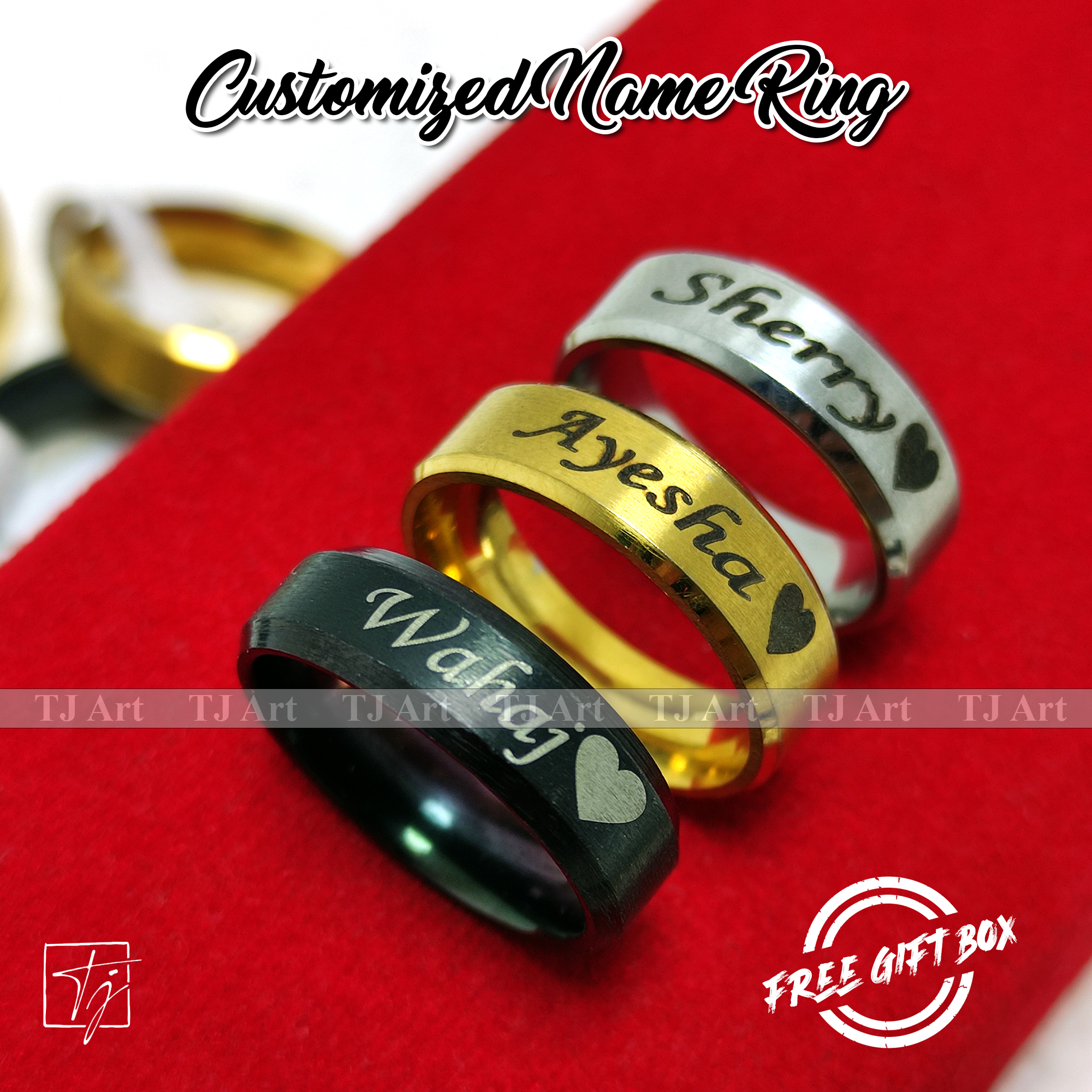 Customized/Personalized Stainless Steel Engraved Name Rings Men Women Single Couple Finger Ring Anniversary Wedding Jewelry