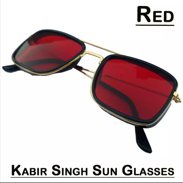 Kabir Singh Sunglasses for Men & Women - Vintage Square Metal Frame Eyeglasses - Tony Stark Sun Glasses