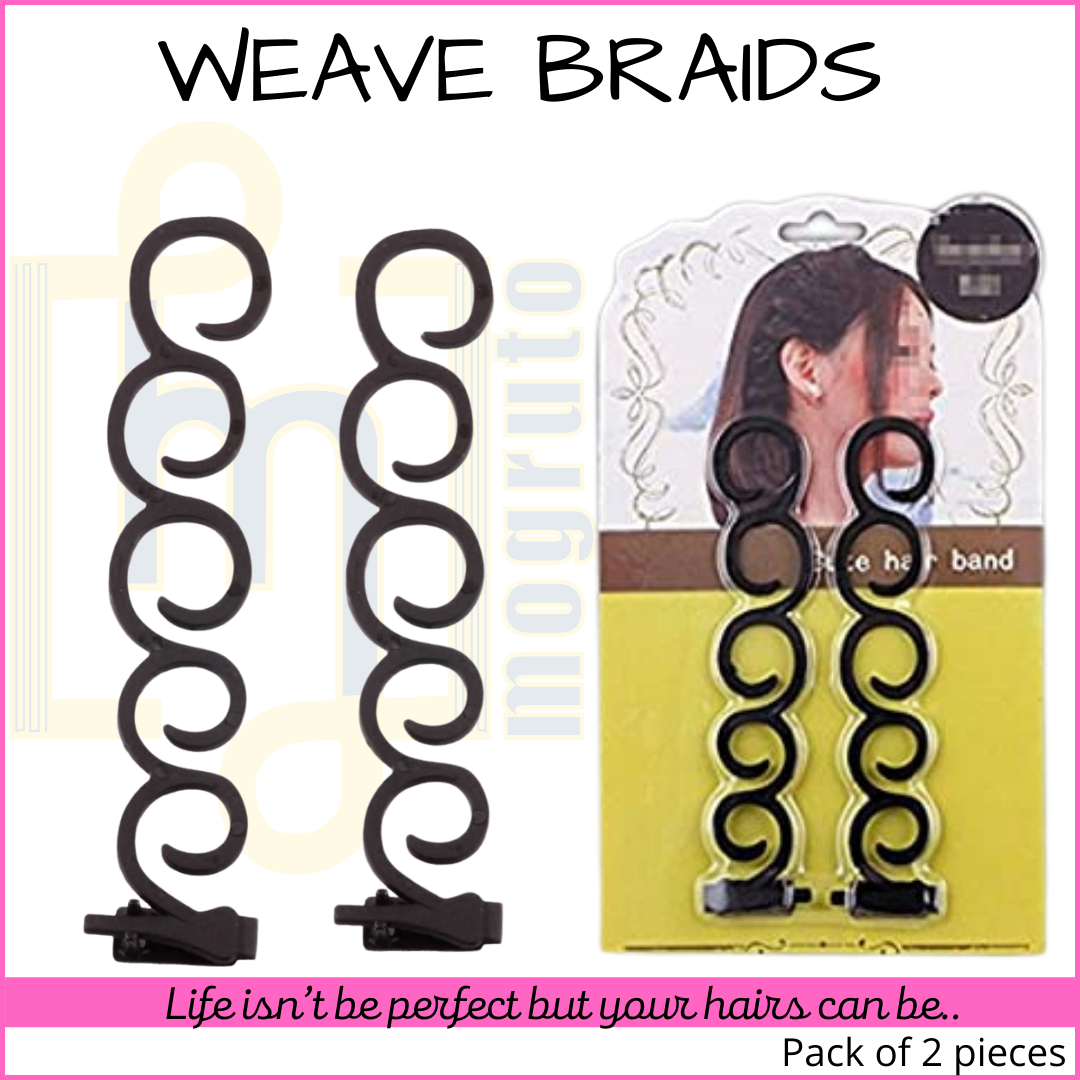 MOGRUTO High Quality Weave Braids Tool Hair Accessories (Set of 2 Pcs) for Latest Hair Styles Curler, Twister, Side Pony Tail Maker, Fashions for Women, Girls