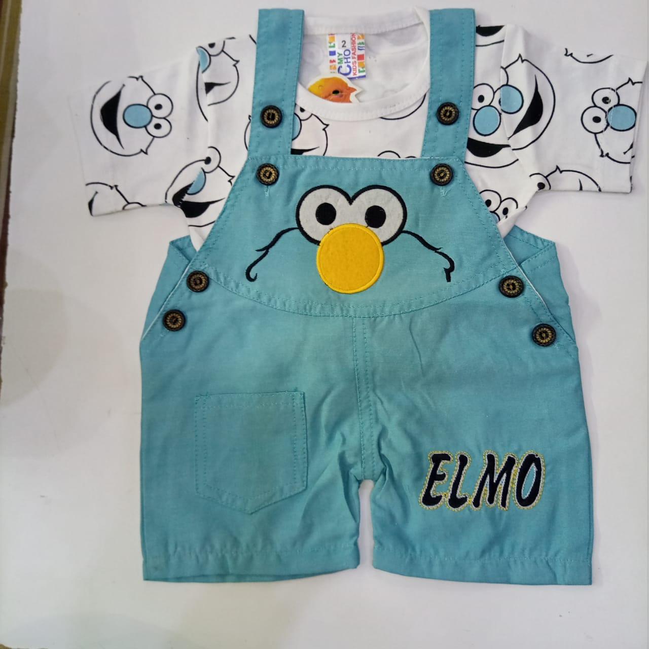 Atfaal Interlock Elmo Romper For Born Baby 3-6, 6-9 Months Gender:Unisex