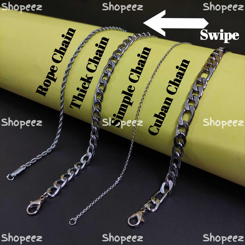 Silver neck chain for men | Chain for men & Unisex |
