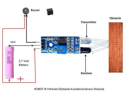 IR Infrared Obstacle Avoidance Sensor Module for Arduino Car Robot 3-wire Reflective Photoelectric New Porcelain