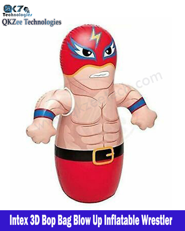 100% Branded Intex 3-D Bop Bag Inflatable Punching Boxing Bop Bag Blow Up Inflatable Wrestler