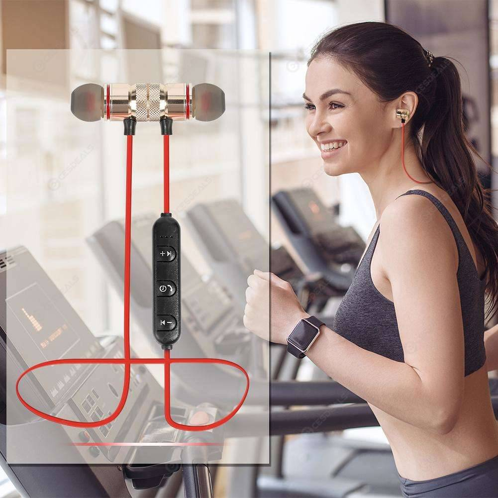 Original Magnetic Bluetooth Handsfree  Wireless Bluetooth Handsfree  Sports Handfree  Wireless hand free Bluetooth  Wireless Bluetooth Earphones  Wireless Bluetooth Sports headset compatible with android and IOS devices  Bluetooth earphone for PUBG
