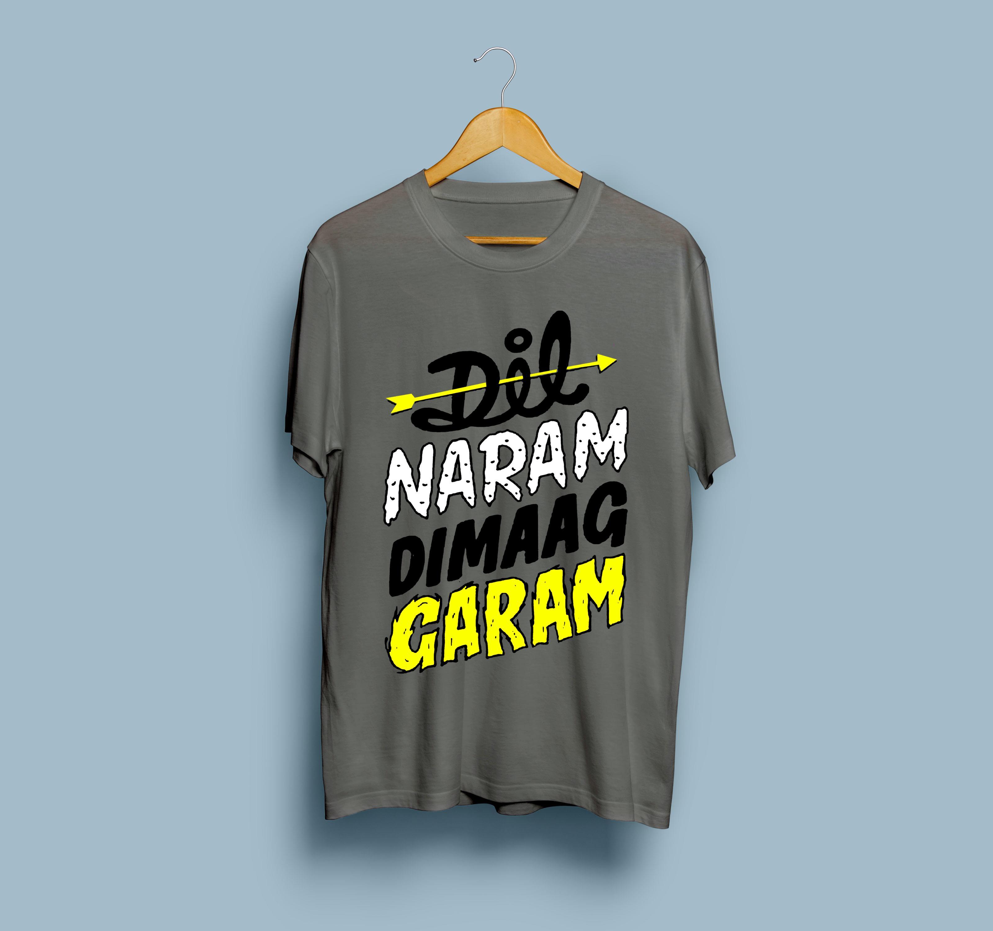 5a11b127fce Dil Naram Dimaag Garam Printed T shirt For Men & Women