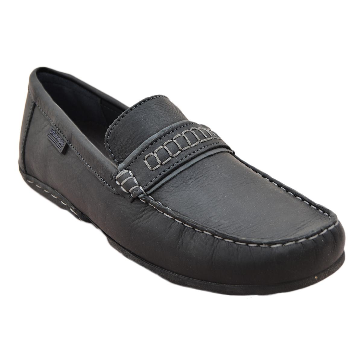 Urban Sole - Black Casual Moccasin For Men - 606004