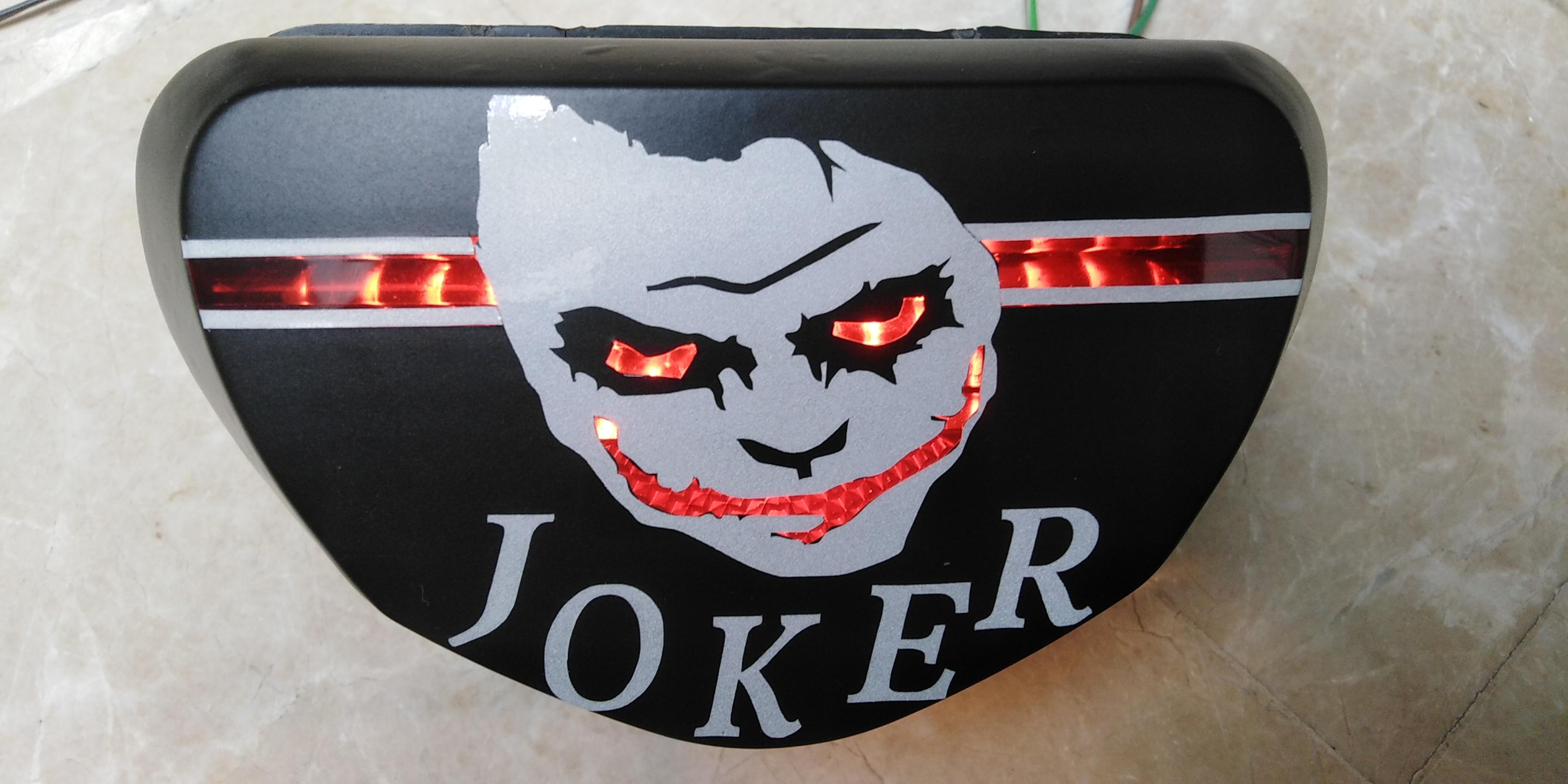 Joker back light cover with fancy wrapping for all bikes