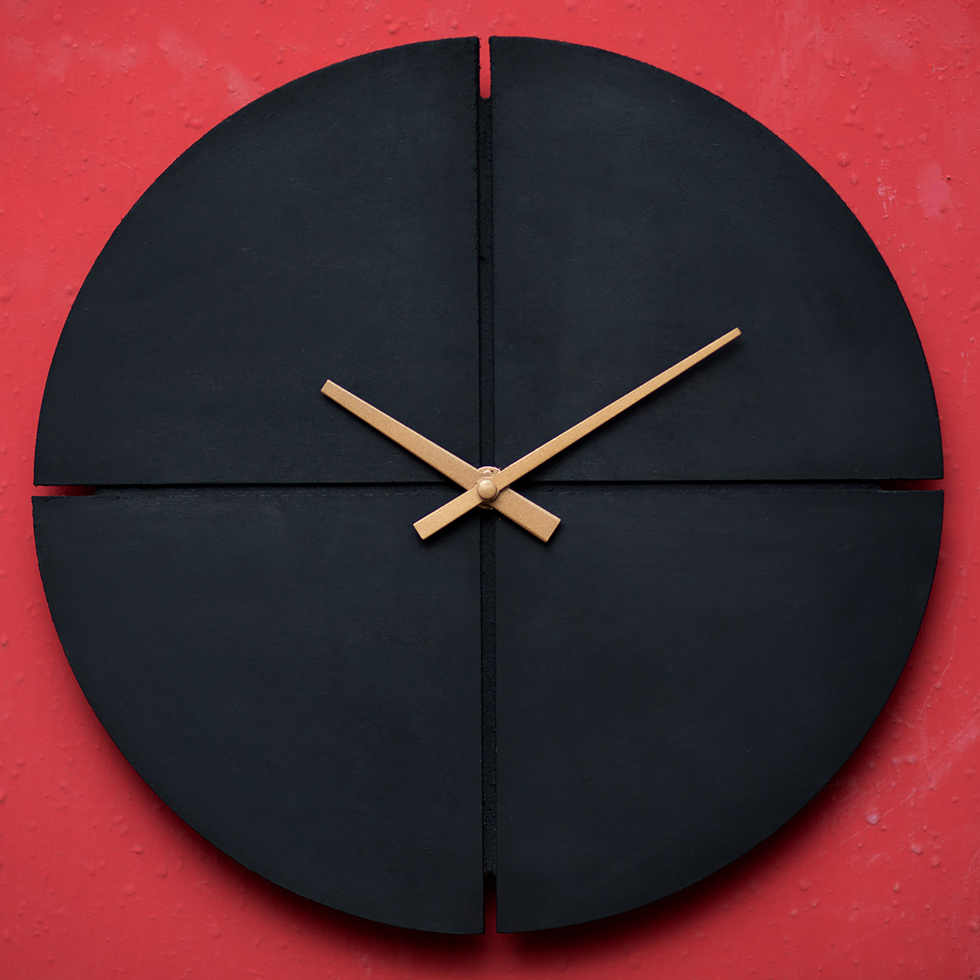 Unique Wooden Wall Clock Matte Black Wooden Wall Clock Hanging Wood Wall Clocks for Home Decor and Interior Design