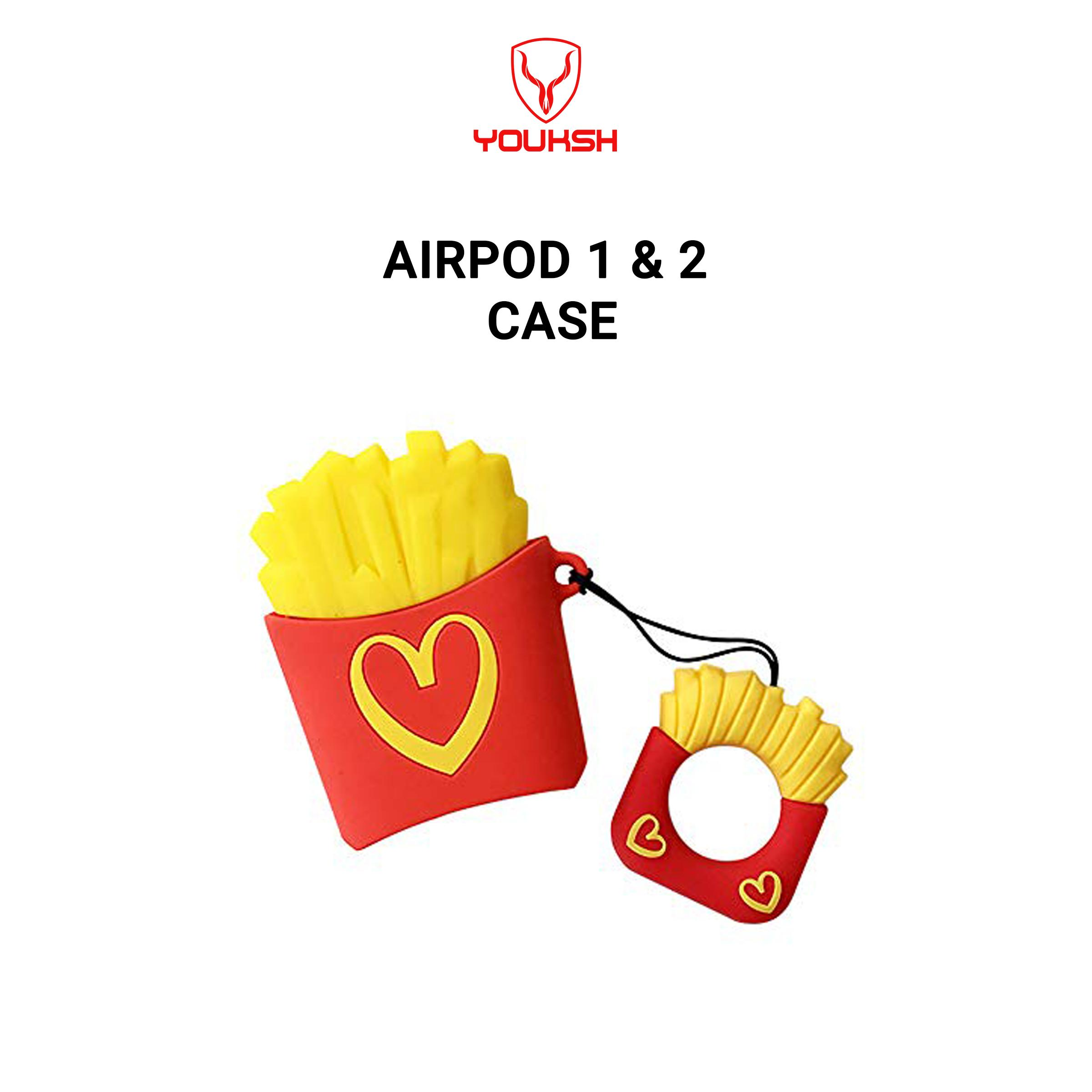 Youksh Apple Airpods Series 1 2 Funny Cartoon Case Mcdonald