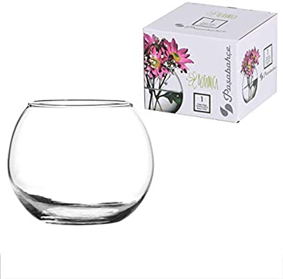 Pasabahce Flora Round Vase For Flowers & Fishes - 43407 ( 79 MM) - Small