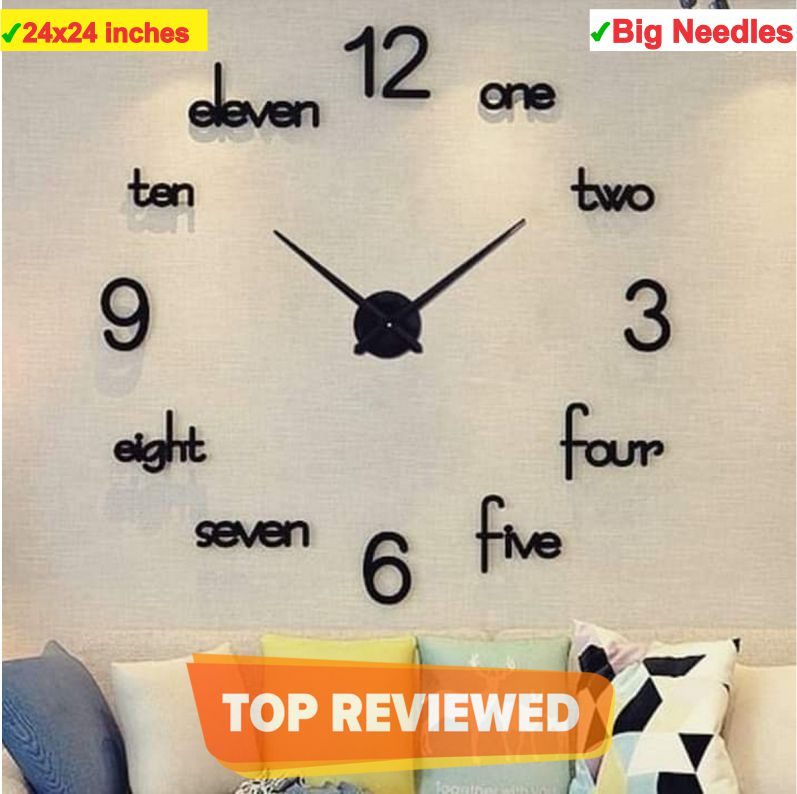 New Acrylic wall clock, creative Wall clock for home and offices, 3D design