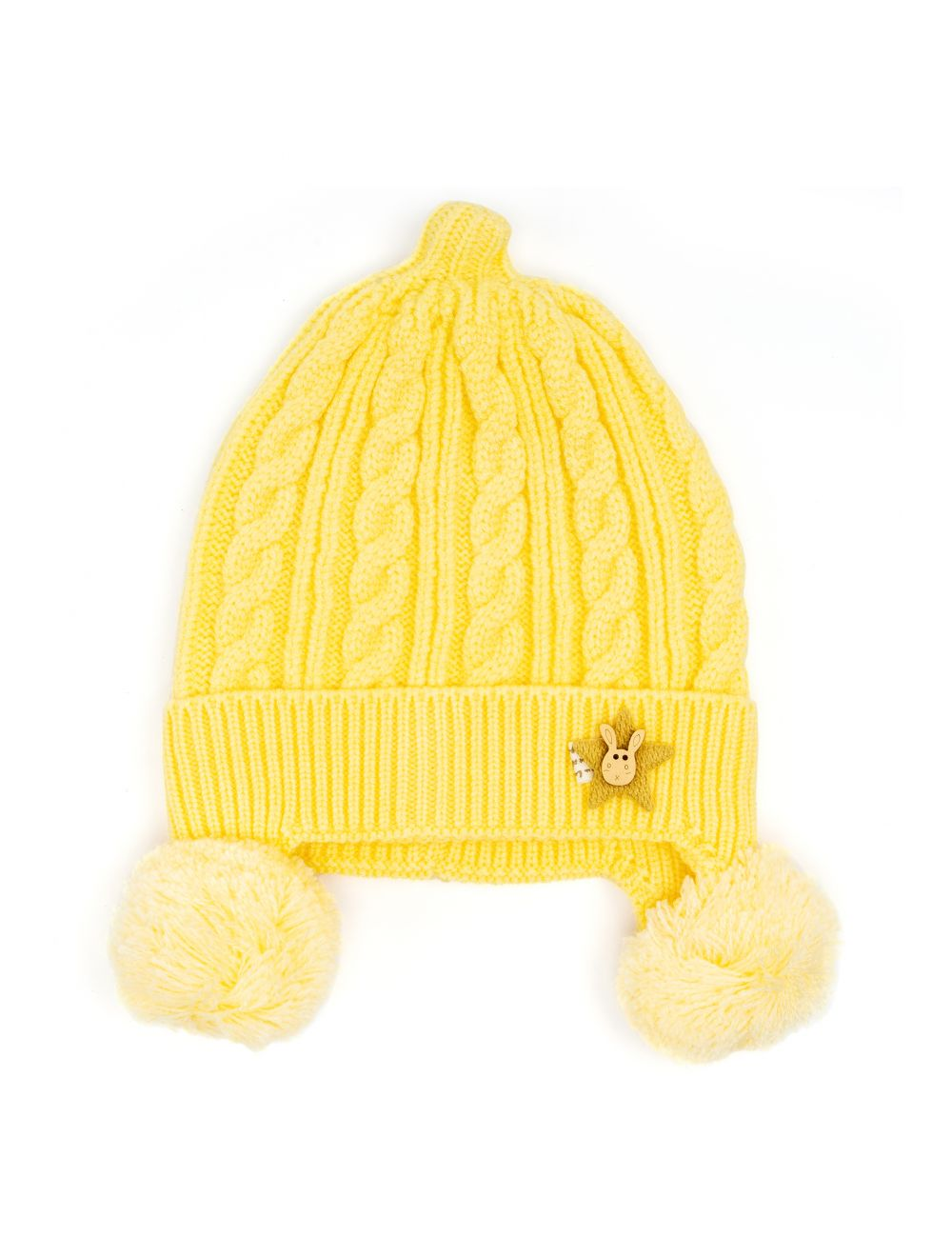 Baby Cap For Kids Wool Knitted Warm Hats Winter Knit Hat Casual (0 to 3 months)