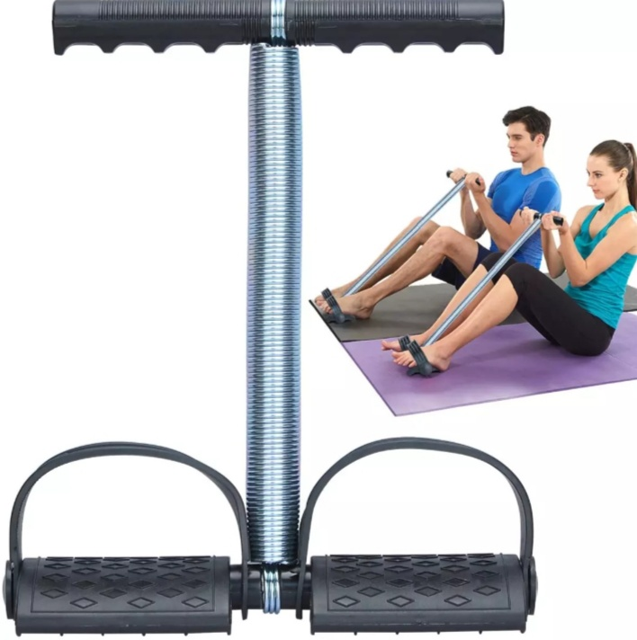 Tummy Trimmer Belly Fat Burner Exerciser Home Gym Workout, Weigh Loss, Home Gym, Tummy Slimmer, Arm, Muscle Builder, Body and Legs Exercise, Elastic Sit Pull Rope Single Spring with Pedal