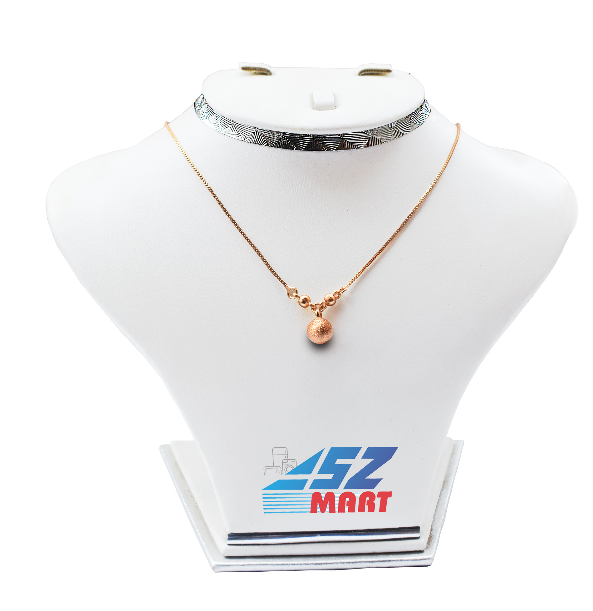Golden Pendant Chain Necklace for Girls and Women by ASZ Mart golden ball pandant chain nacklace