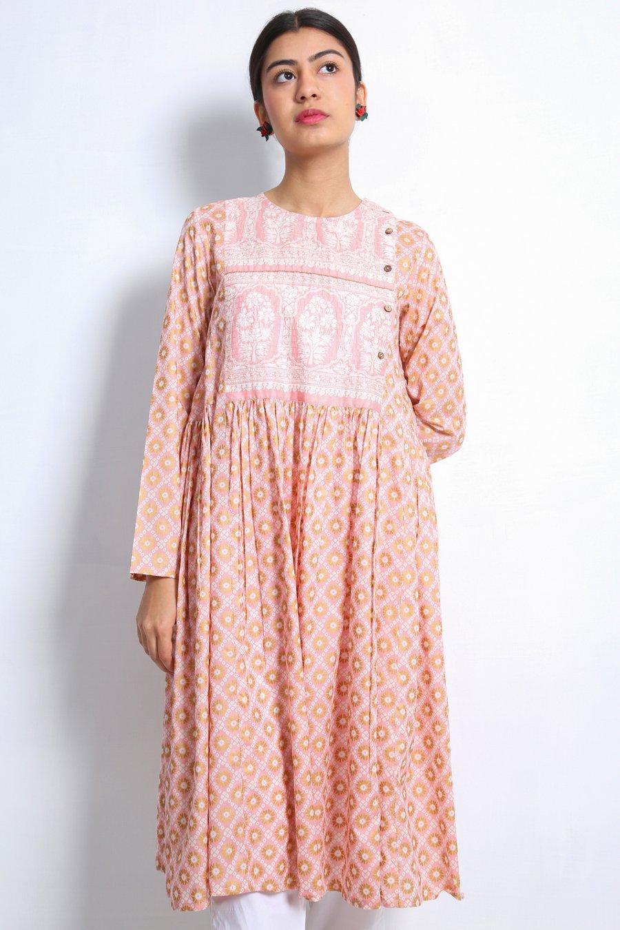Generation-Stitched 1-Piece Summer Collection Bidri Shirt Lawn Contemporary-S20B0657-Pink