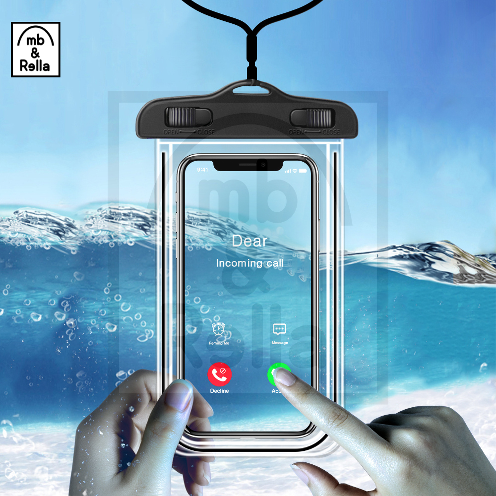 Waterproof Mobile Cover, Underwater Waterproof Rainproof Mobile Case, Waterproof Phone Pouch, Universal Waterproof Cellphone Pouch Case, Underwater Phone Bag Case, PVC Bag Transparent Touch Screen Premium Cell Phone Pouch