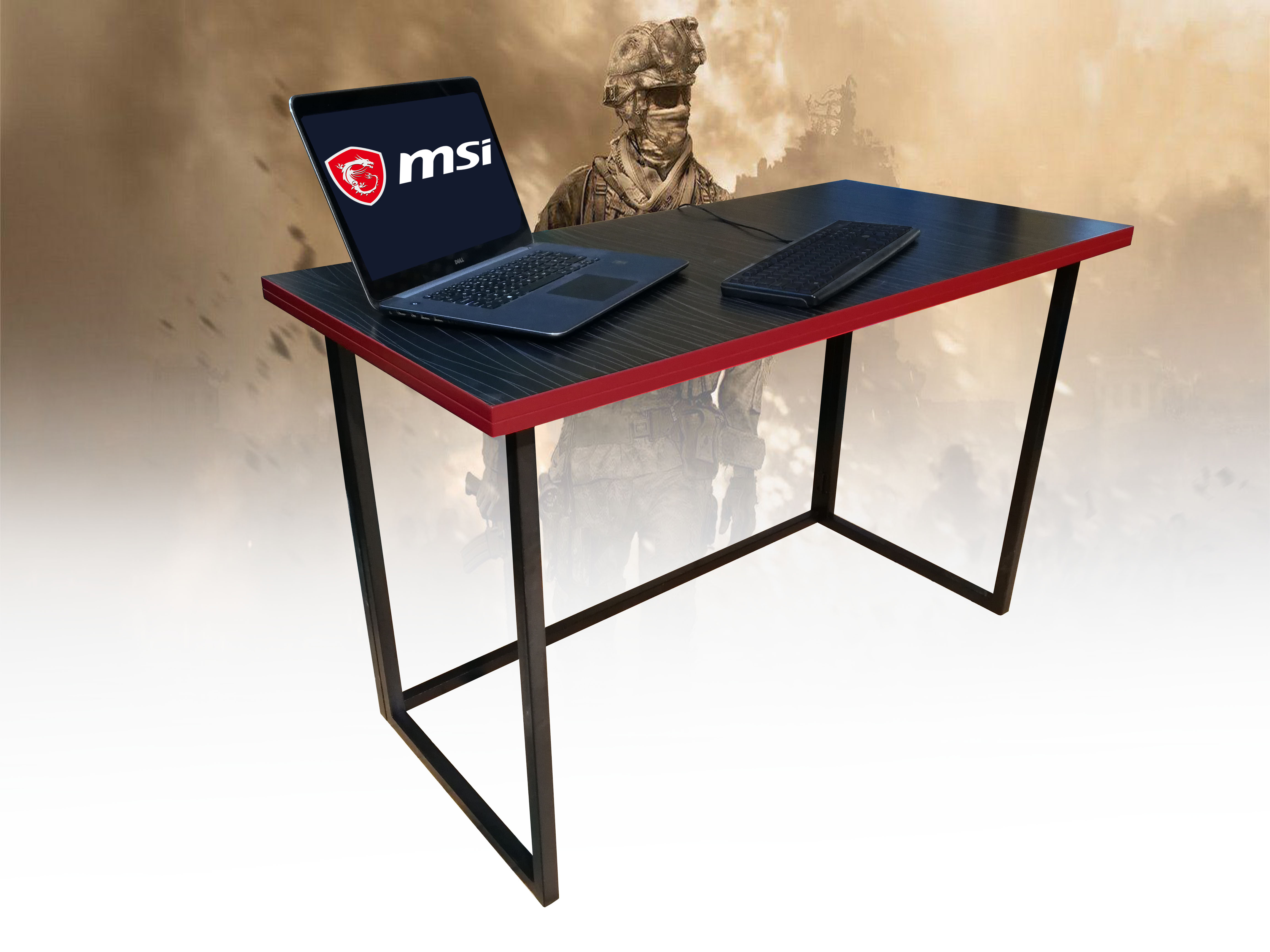 Gaming Computer Table 4 Feet Black and Red
