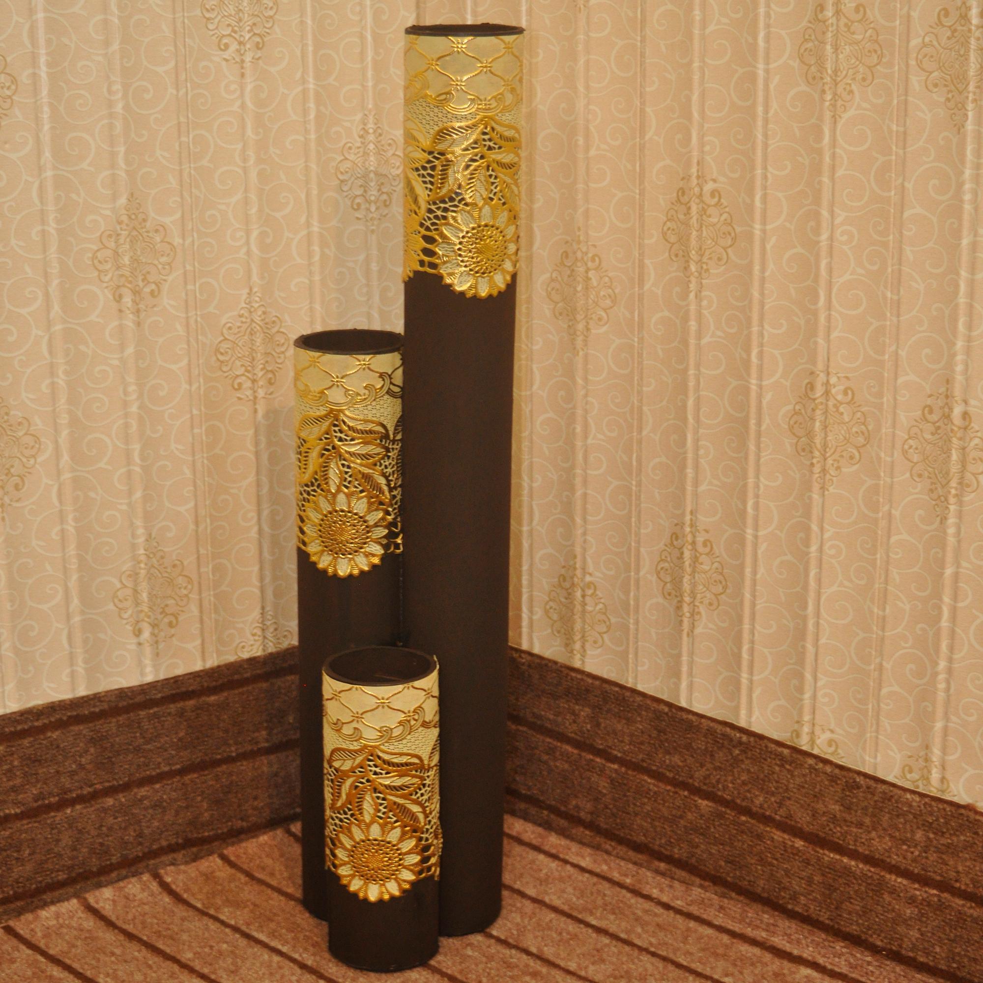 Flower Vase - Floral - 76cm Height