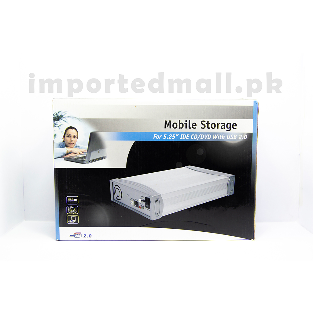 Removable Hard Disk Box Mobile Storage For 5.25 Ide Cd/dvd With Usb 2.0