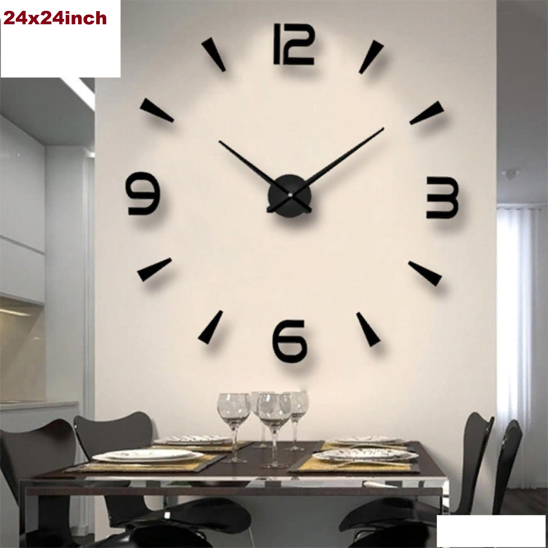 2020 Large 3D Acrylic Wall Clock for room decor, living room, drawing room, guest room, modern design