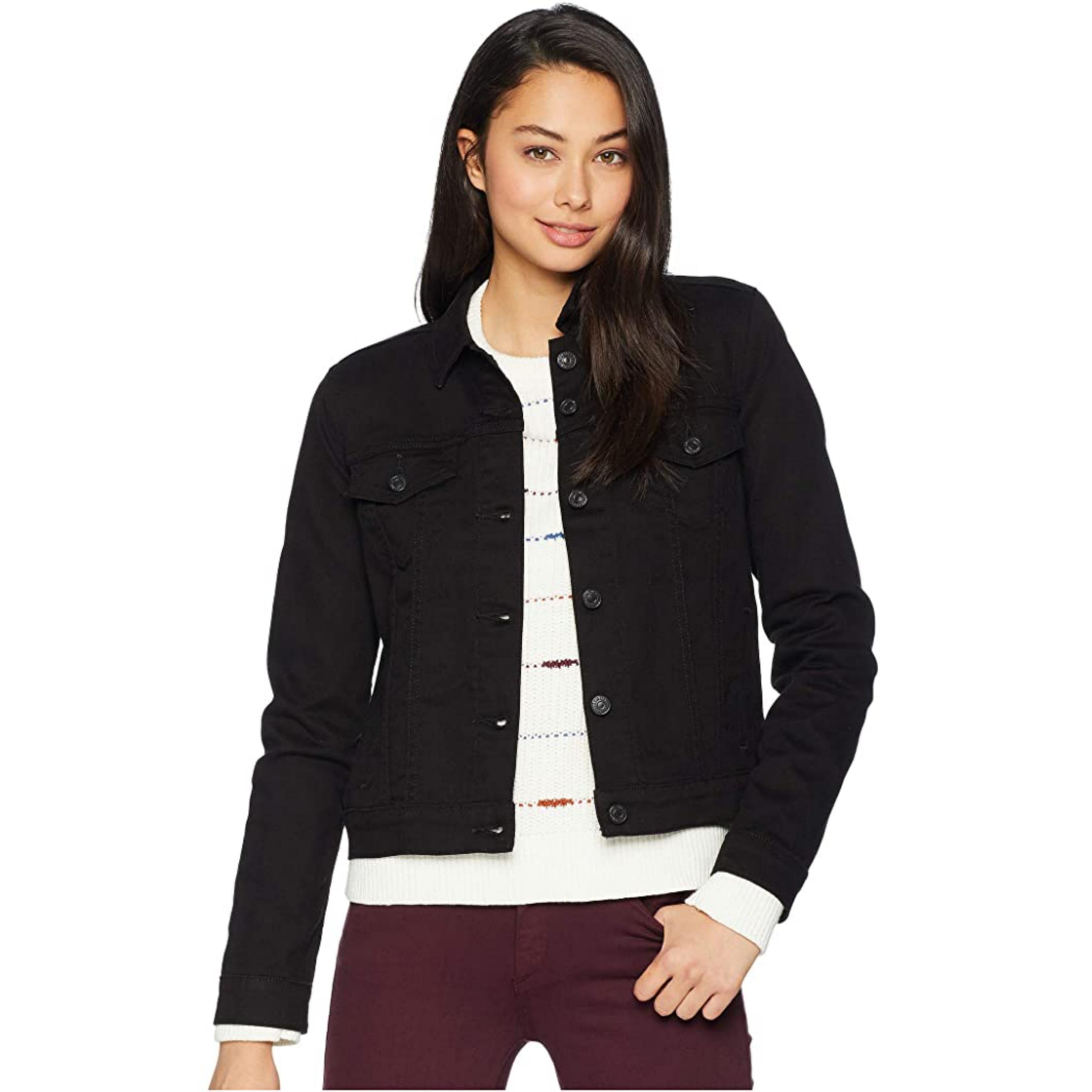 Denim Jacket For Women - New Style Jet Black Jacket for Woman