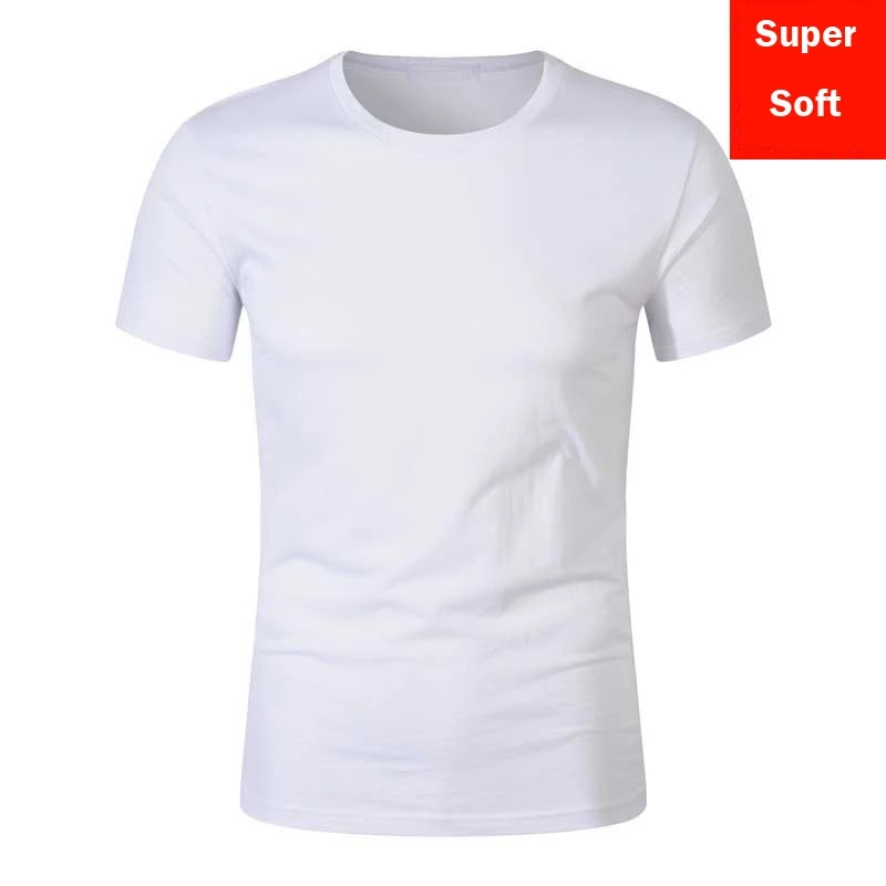 Mughaliya Plain White Cotton T Shirt Short Sleeve Summer Breathable Export Quality