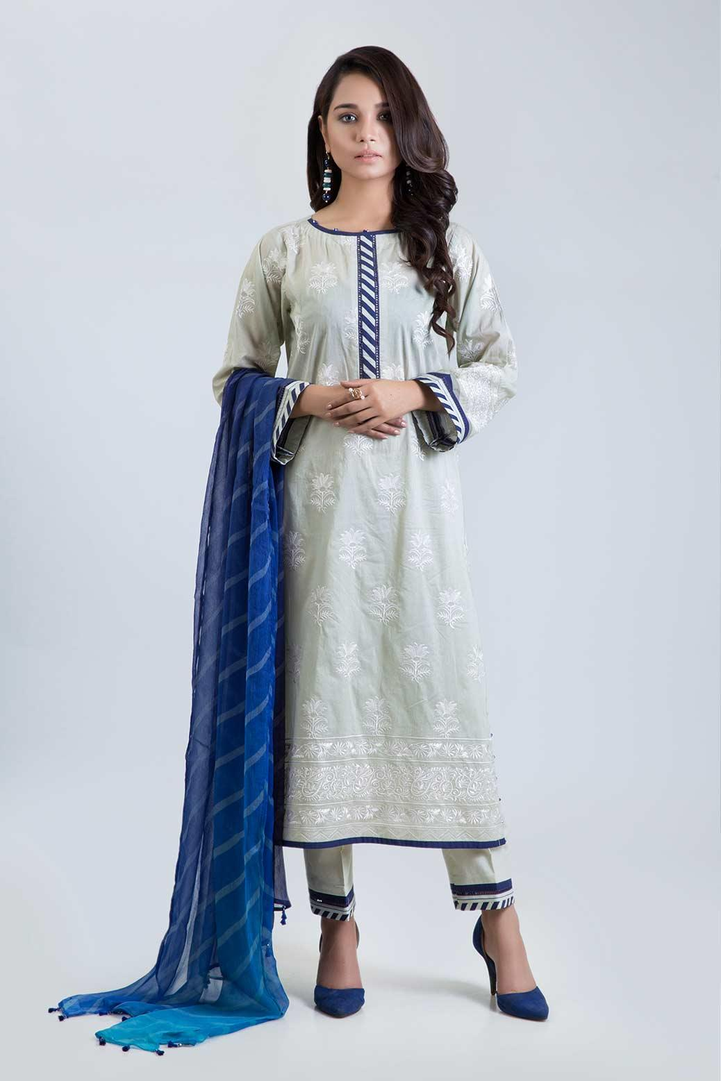 51248404c6 DYED EMBROIDERED LAWN SHIRT: 3.00 M-DIGITAL PRINTED CHIFFON DUPATTA: 2.50 M-