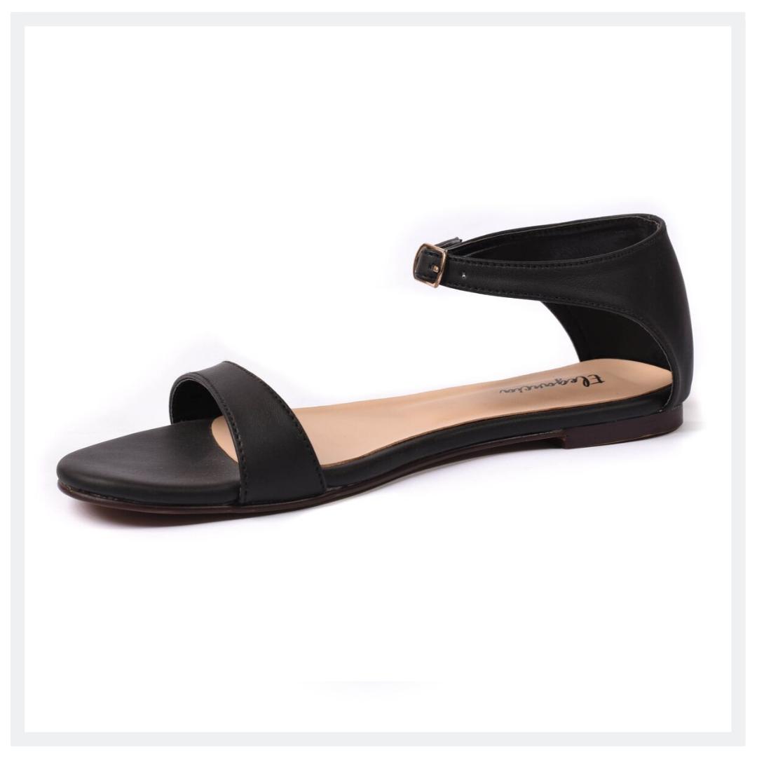 CSB  Women's Flat Sandals  Black  Elegancia