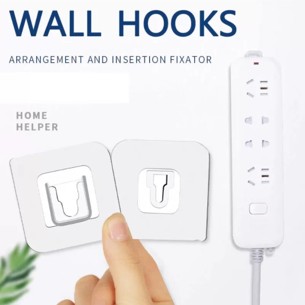 Double sided adhesive wall hook , Wall Hooks , Double Wall Hooks , Suction Hook , stick hook , Wall-Sticking Hooks Without Punching and Nails, Waterproof and Oil-Proof, Heavy-Duty Self-Adhesive Hooks for Bathroom and Kitchen