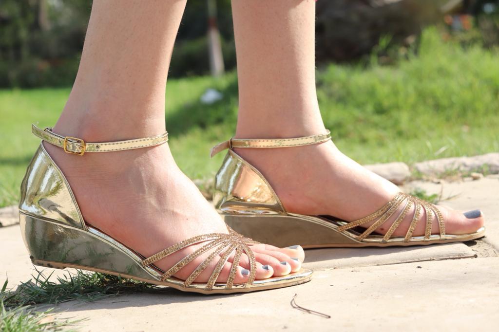 FANCY SANDLE WEDGES SANDLE GOLDEN SANDLE LADIES SANDLE BRIDAL SANDLE EID COLLECTION