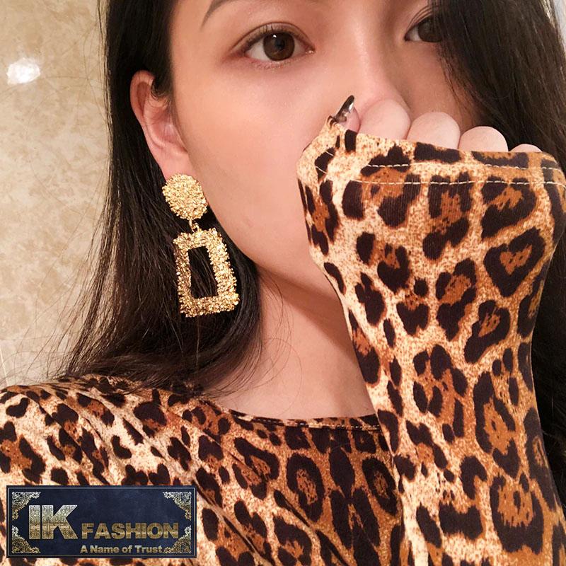 IK Fashion - Trendy Earrings for Women Geometric Statement Earring ZA Jewelry Metal Earing Fashion Jewelry Trendy