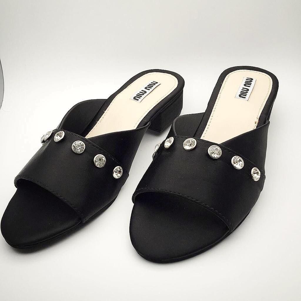 f0e6638f0a7be Buy Miu Miu shop-womens-flat-sandals at Best Prices Online in ...