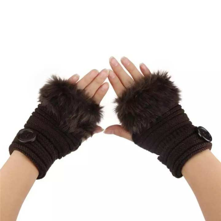 Woman Winter  Gloves WITH  Rabbit Fur